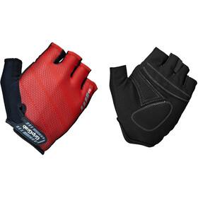 GripGrab Rouleur Gevoerde Halve Vinger Handschoenen, zwart/rood